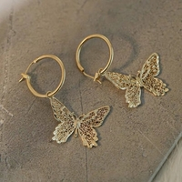 Used Hollow out large butterfly earrings in Dubai, UAE
