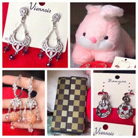 Used New soft toy,3 pairs of earrings &wallet in Dubai, UAE