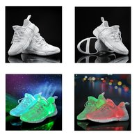 Used Fibre Optics LED sneakers shoes in Dubai, UAE