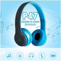 Used New p47 blue foldable bluetooth headphon in Dubai, UAE