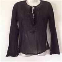Black Transperant Blouse 🎀
