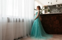 Used Lace long party / evening gown in Dubai, UAE