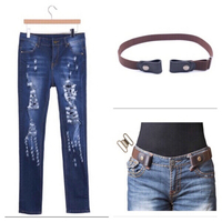 Used Ripped stretch jeans M with belt  in Dubai, UAE