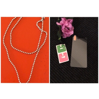 Used NEW Silver Necklace + Screen Glass Y6 in Dubai, UAE