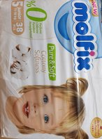 Used Molfix Junior size5    2 pack 76 pieces in Dubai, UAE