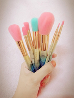 Used 7 soft rainbow colors makeup brushes  in Dubai, UAE