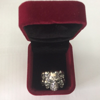 Used glowing skull ring silver Elimi28565 in Dubai, UAE
