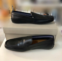 Used Lacoste Leather Black Shoes/10 in Dubai, UAE