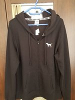 Used Victoria secret black jacket with hood in Dubai, UAE