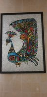 Used Glass Painting - Peacock (Handmade) in Dubai, UAE