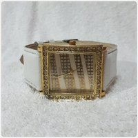 Golden White GUESS watch for lady