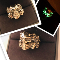 Used Skull ring luminous green  in Dubai, UAE