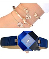 Used Women's fashion watch +4 pcs bracelets in Dubai, UAE
