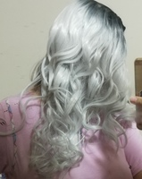 Used Grey hair synthetic wig in Dubai, UAE