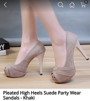 Used High Heels Suede Party Wear Sandals in Dubai, UAE