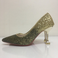 Sparkly gold glitter  high heels
