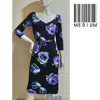Used Black floral dress-medium size in Dubai, UAE