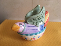 Fitz & Floyd bird shaped Trinket box