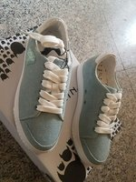 Used Nicki washed denim white shoes in Dubai, UAE