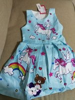 Cute unicorn patpat girl dress