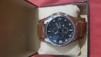 Used Big dial leather band watch in Dubai, UAE