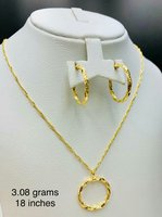 Twisted Style Set 18k Italy Real Gold