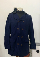 Used Navy Blue Collar Coat/XL in Dubai, UAE