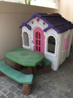 Used Kids home plus wood bench playing  in Dubai, UAE