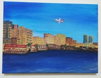 Used Acrylic canvas painting 30x40cm in Dubai, UAE