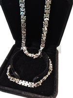 Used Channel Necklace Silver 925, Italy in Dubai, UAE
