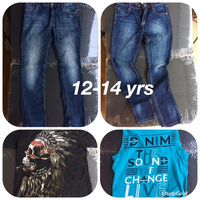 Used 2 jeans + 2 T-shirt 12-14 yrs in Dubai, UAE