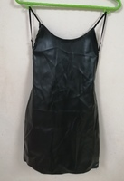 Used Black leather square neck mini dress... in Dubai, UAE