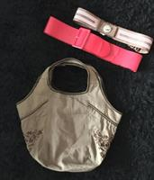 Bershka Used Bag + 2 New Belt Esprit + Splash Medium To Large Size