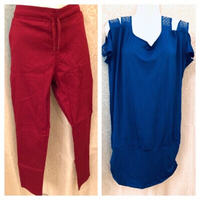 Used Open shoulder top XL& stretch pants 2XL  in Dubai, UAE