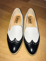 Used Lince...black & white shoes(37) in Dubai, UAE