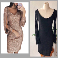 Used  2 Metal Sequins Dress in Dubai, UAE
