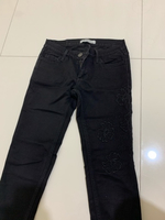 Used Black jeans with design on the side  in Dubai, UAE