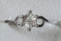 Used Real diamond silver ring, size 7us in Dubai, UAE