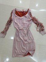Used GOLDEN Metal sequins dress New size M/L in Dubai, UAE