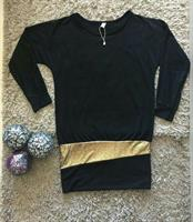 Top Or Mini Dress Black Batwing Small Si