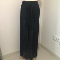 NEW Sfera Black Metallic Long Skirt