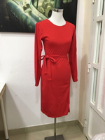 Classic Ladies Red dress with belt