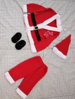 Used Santa clause costume size 2 years in Dubai, UAE
