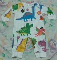Used Dinosaur printed long sleeve jumpsuit in Dubai, UAE