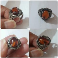 Used Antique silver Ring with Kahraman Stone' in Dubai, UAE