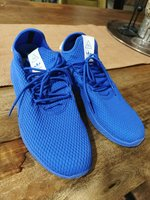 Used Adidas Pharrell Blue US12 LIKE NEW👟 in Dubai, UAE