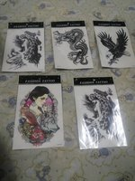 Used Waterproof temporary tattoos 5 pcs. in Dubai, UAE