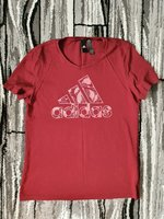 Used Adidas maroon shirt for women Large in Dubai, UAE