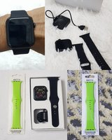 Used Smart watch x6 black with 1 band in Dubai, UAE