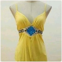 "Used Yellow summer top"" brand new free size in Dubai, UAE"